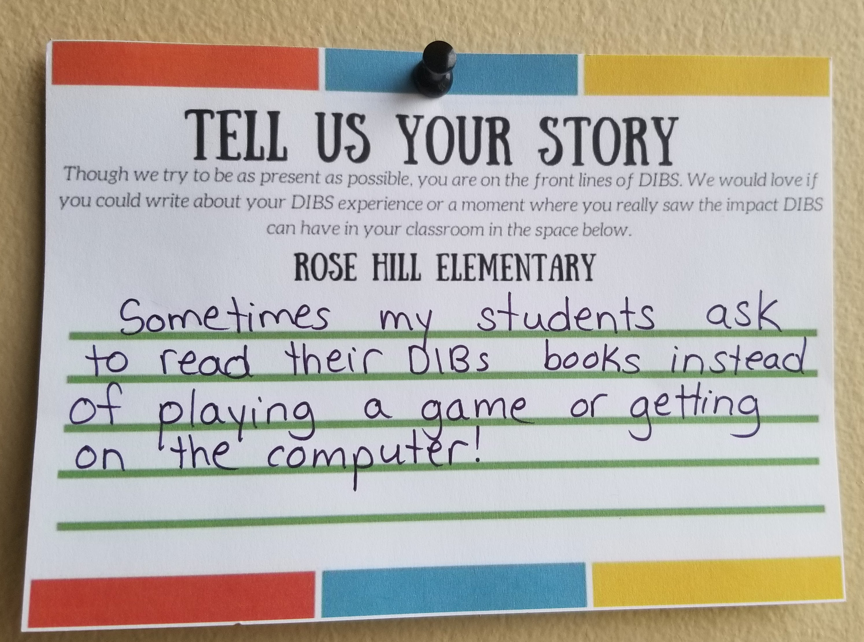 Tell Us Your Story RH